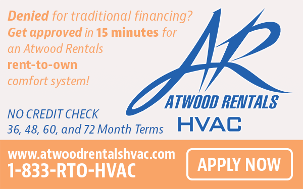 Apply Now for an Atwood Rentals Rent-To-Own Comfort System